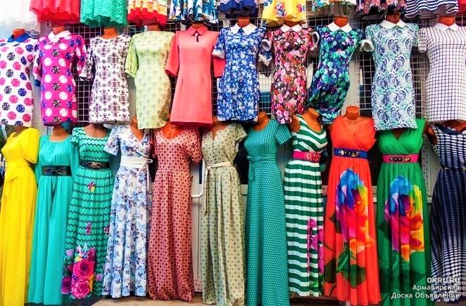 Платья на рынке Садовод